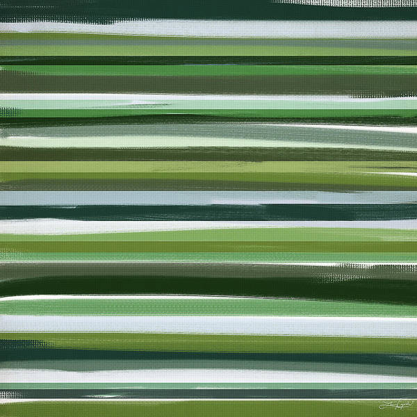 Green Art Print featuring the painting Summer Of Green by Lourry Legarde