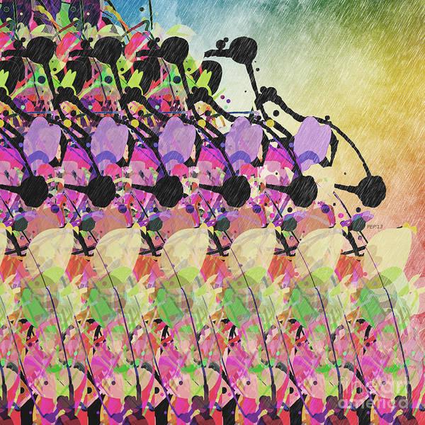 Sun Showers Art Print featuring the digital art Sun Showers On Flowers by Phil Perkins