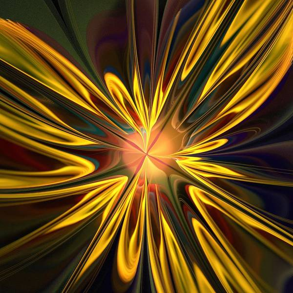 Plant Art Print featuring the digital art Sunglow by Anastasiya Malakhova