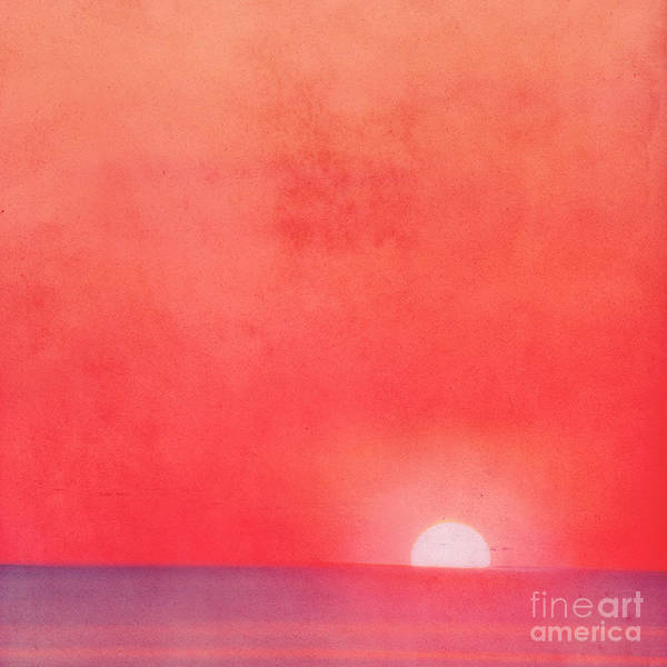 Sea Art Print featuring the photograph Sunset Impression by Angela Doelling AD DESIGN Photo and PhotoArt