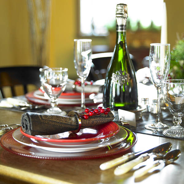 Holiday Art Print featuring the photograph Table Setting With Red And White by Works Photography