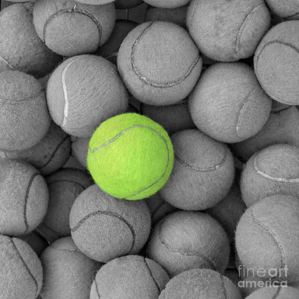 Ace Art Print featuring the photograph Tennis Balls Background Texture by Phaitoon Sutunyawatcahi