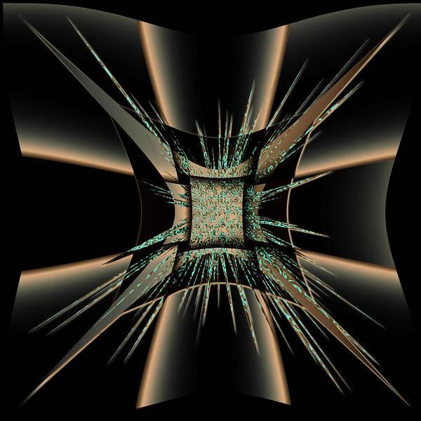 Digital Graphic Art Print featuring the digital art The Black Craft by Mihaela Stancu