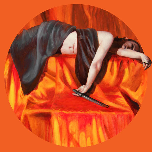 Shelley Irish Art Print featuring the painting The Martyr by Shelley Irish