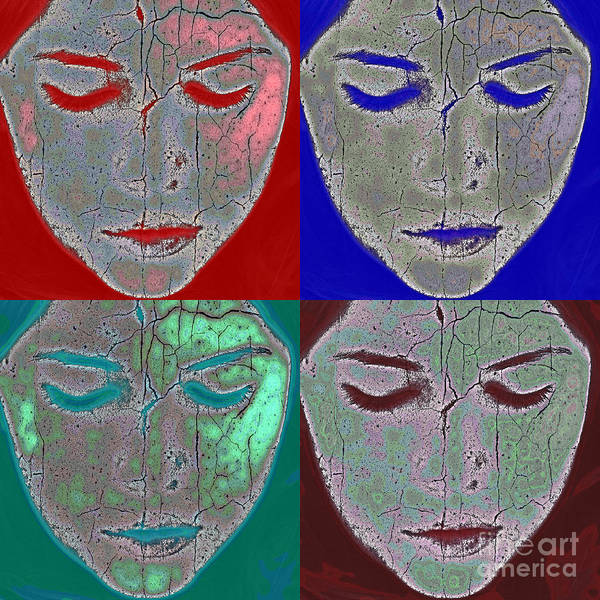 Abstract Art Print featuring the photograph The Mask by Stelios Kleanthous