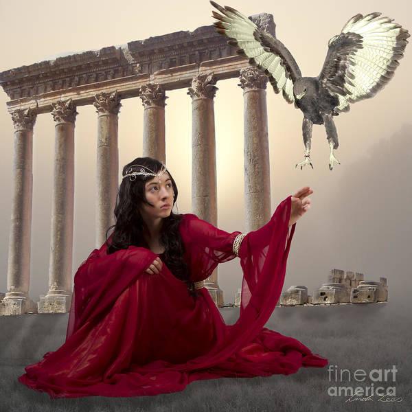 Fantasy Art Print featuring the digital art The Message Bearer by Linda Lees