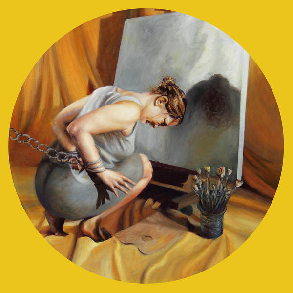 Shelley Irish Art Print featuring the painting The Restricted by Shelley Irish