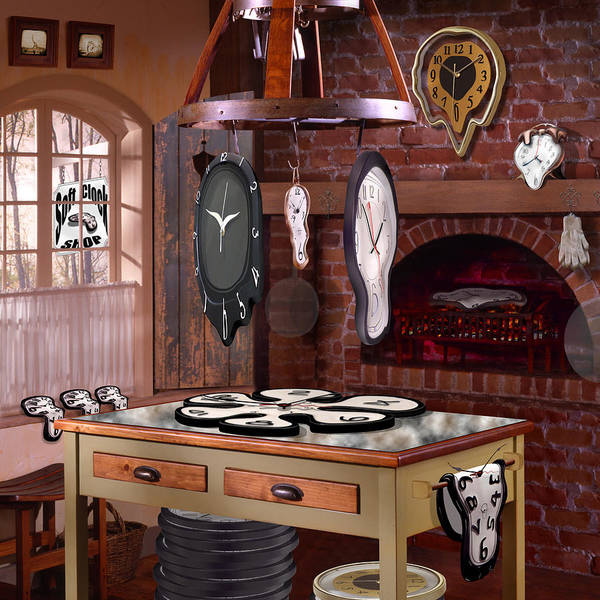 Surrealism Art Print featuring the photograph The Soft Clock Shop 3 by Mike McGlothlen
