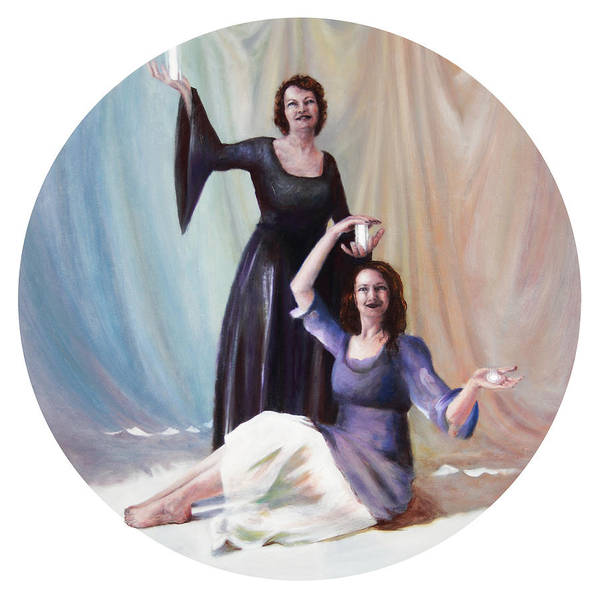 Shelley Irish Art Print featuring the painting The Source by Shelley Irish