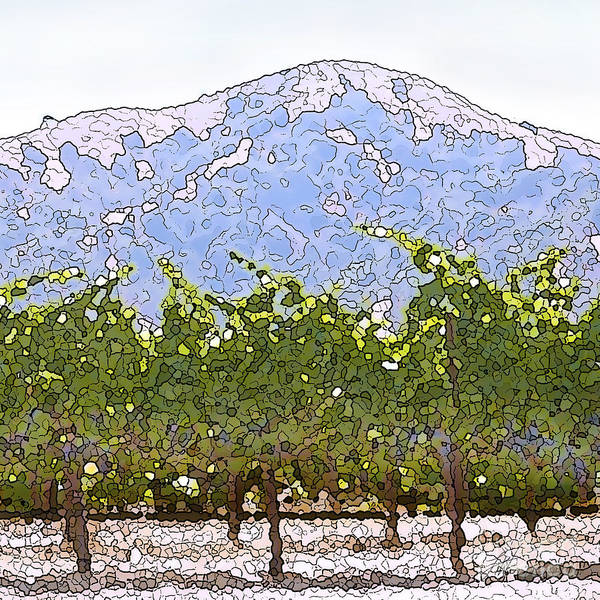 Cour De Valle Vineyard Art Print featuring the painting The Taste Of Wine by Artist and Photographer Laura Wrede