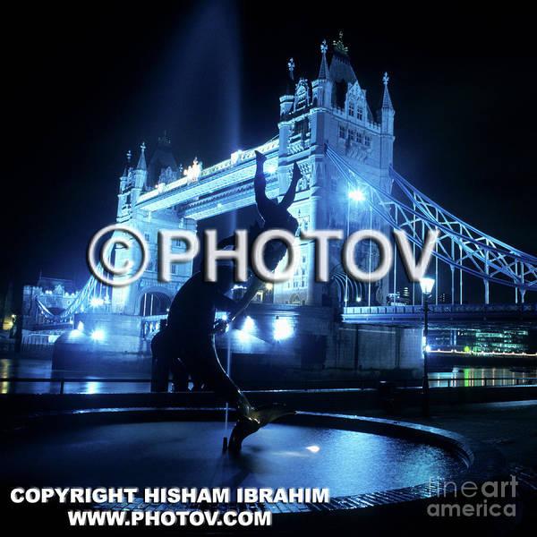 United Kingdom Art Print featuring the photograph The Tower Bridge At Night - Limited Edition by Hisham Ibrahim