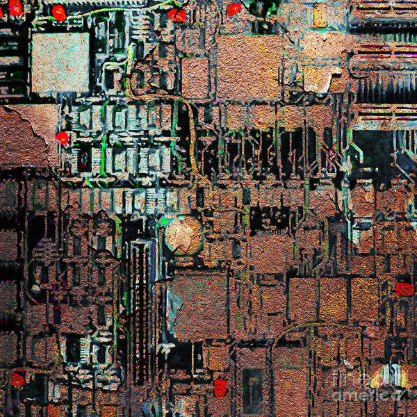 Punk Art Print featuring the photograph Time For A Motherboard Upgrade 20130716 Square by Wingsdomain Art and Photography