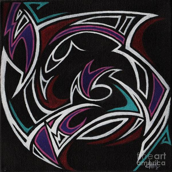 Tribal Art Print featuring the painting Tribal Essence - Sold by David Mel