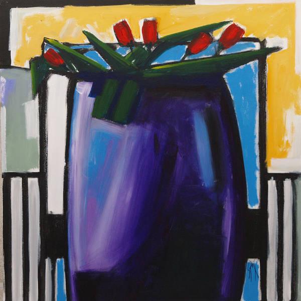Spn Art Print featuring the painting Tulipani T15- Oil On Canvas100x100 Cm by Saso Petrosevski Novak - SPN