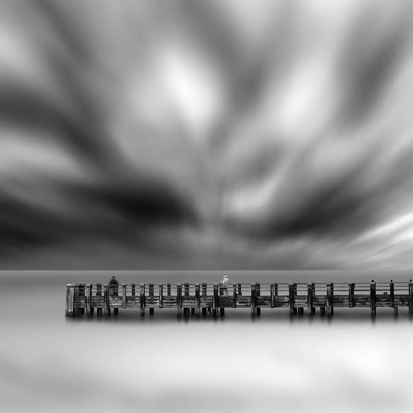 Bw Art Print featuring the photograph Two Strangers by George Digalakis