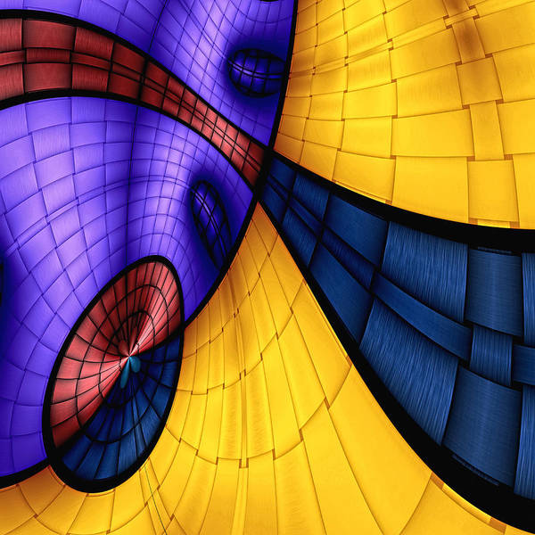Abstract Art Print featuring the digital art View From The Top 2 by Wendy J St Christopher