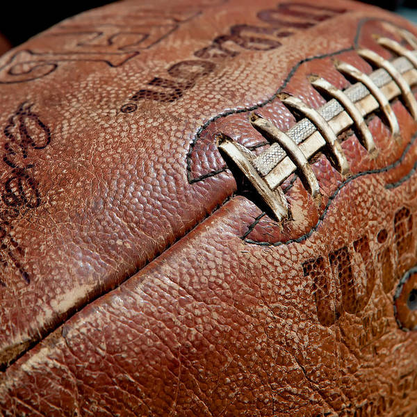 Football Art Print featuring the photograph Vintage Football by Art Block Collections