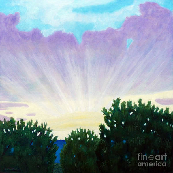 Skyscape Art Print featuring the painting Visionary Sky by Brian Commerford