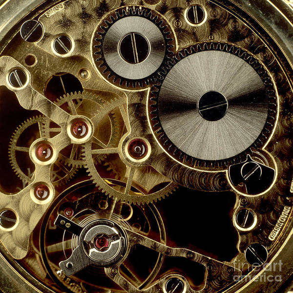 Accuracy Accurate Clocks Clockworks Clockwork Clock Close-ups Close-up Closeup Close Up Cogwheels Cogwheel Cropped Details Detail Exact Interactions Interaction Measurement Measures Measure Measuring Mechanics Mechanisms Mechanism Nobody Partial View Picture Details Picture Detail Precise Propulsions Propulsion Studio Shots Studio Shot Technical Technologies Technology Time Measurements Time Measurement Time Transmissions Transmission Art Print featuring the photograph Watch Mechanism. Close-up by Bernard Jaubert