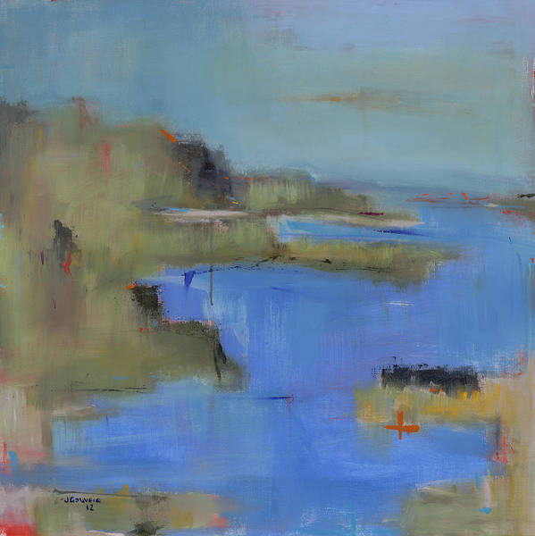 Landscape Art Print featuring the painting Westport River by Jacquie Gouveia