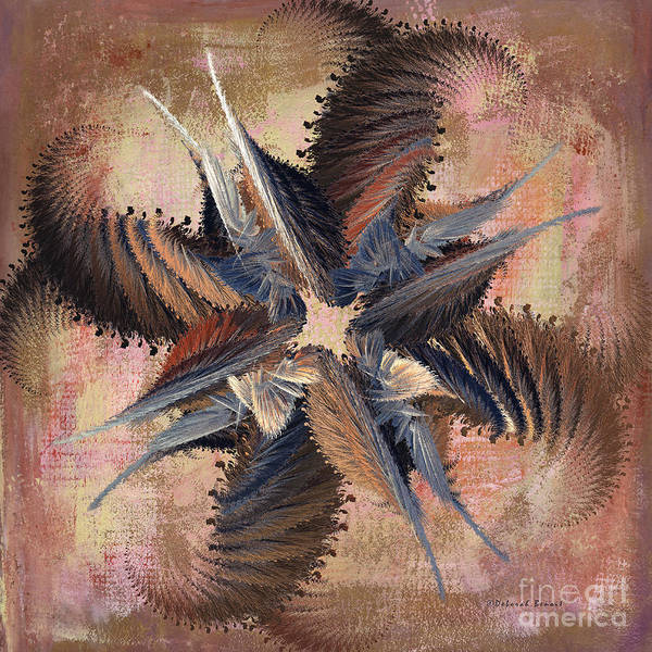 Abstract Art Print featuring the digital art Winds Of Change by Deborah Benoit