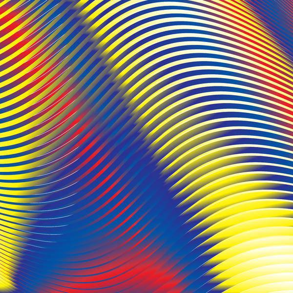 Multi-colored Art Print featuring the digital art Blue Stripes No. 15 by Alan Bennington
