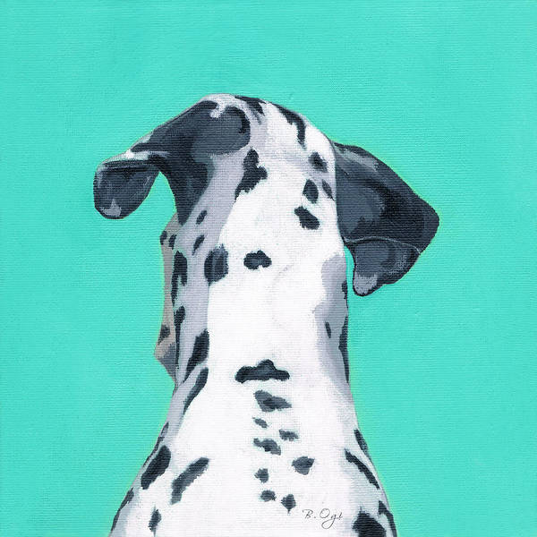 Dog Art Print featuring the painting Duke by Brian Ogi