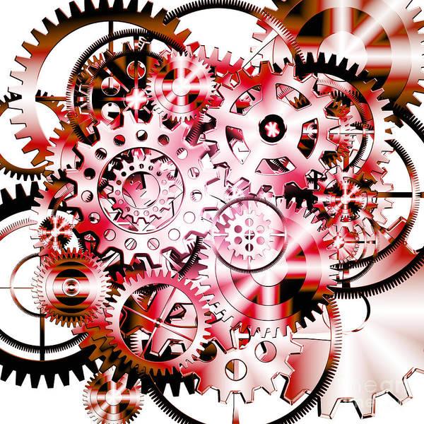 Art Art Print featuring the photograph Gears Wheels Design by Setsiri Silapasuwanchai