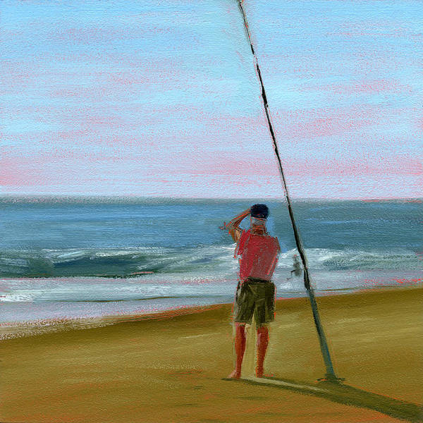 Beach Art Print featuring the painting Rcnpaintings.com by Chris N Rohrbach