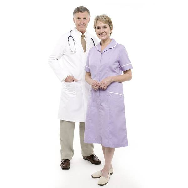 60-64 Years Art Print featuring the photograph Doctor And Nurse by