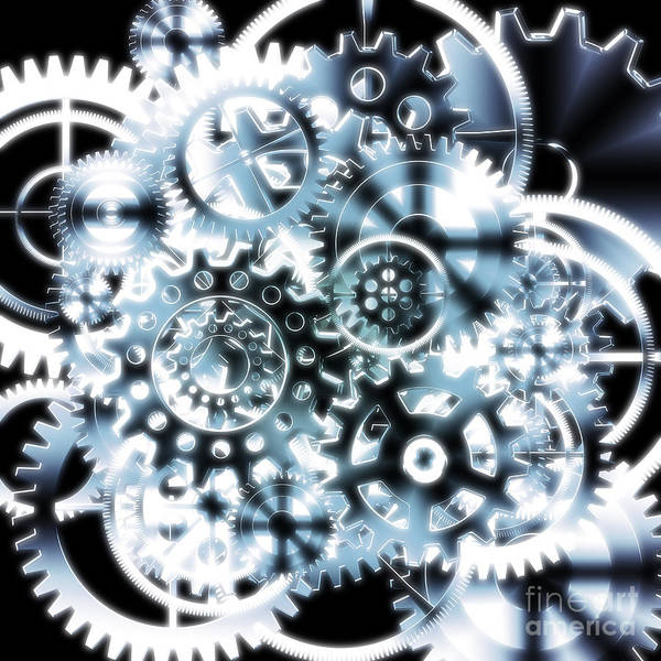 Art Art Print featuring the photograph Gears Wheels Design by Setsiri Silapasuwanchai