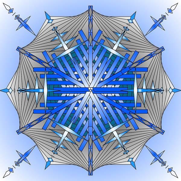 Mandalas Art Print featuring the digital art A Game Of Swords by Mario Carini