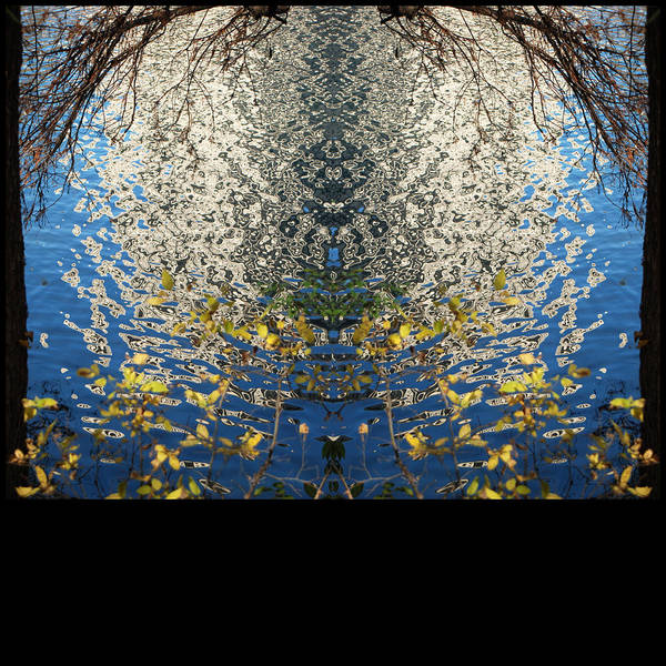 Diptych Art Print featuring the photograph A Mirror Image Of Sparkling Water Reflection by Jennifer Holcombe