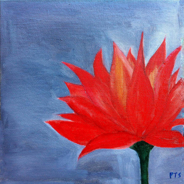 Lotus Art Print featuring the painting Abstract Lotus by Prachi Shah