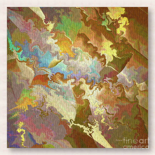 Abstract Art Print featuring the photograph Abstract Puzzle by Deborah Benoit