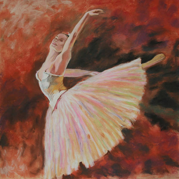 Degas Art Print featuring the pastel After Degas by Charles Hubbard