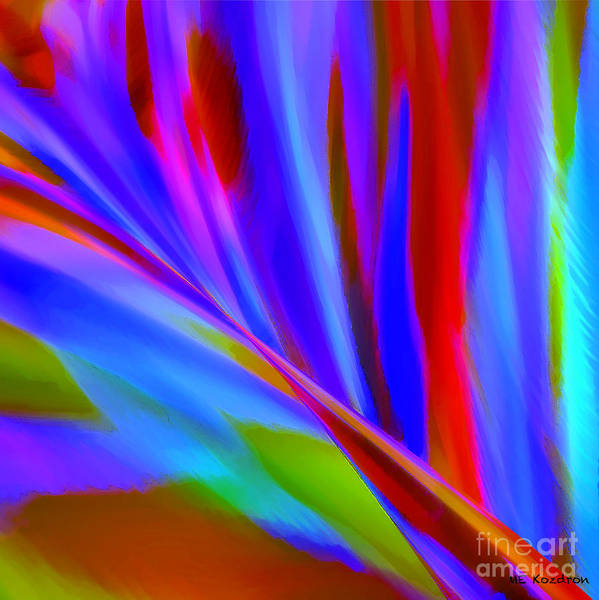 Abstract Art Print featuring the digital art Akimbo by ME Kozdron