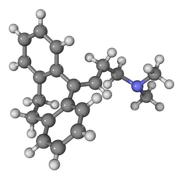 Molecular Print featuring the photograph Amitriptyline Antidepressant Molecule by Laguna Design
