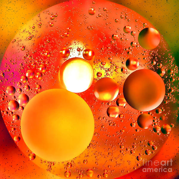 Abstract Art Print featuring the photograph Another World by Olivier Le Queinec