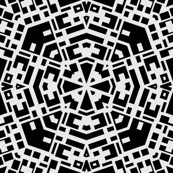 Kaleidoscope art print featuring the photograph black and white kaleidoscope by david g paul