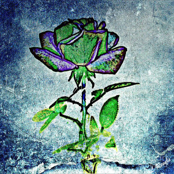 Flower Art Print featuring the photograph Blue Rose by Leslie Revels