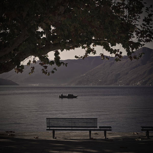 Boat Art Print featuring the photograph boat on the Lago Maggiore by Joana Kruse