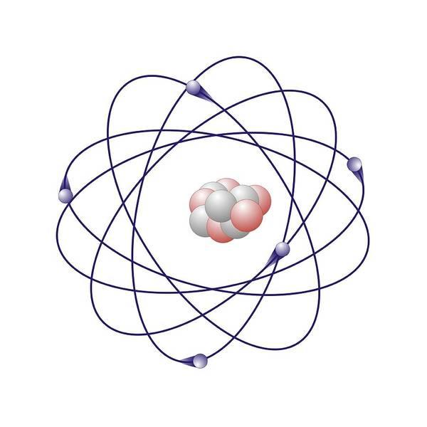 Boron Art Print featuring the photograph Boron, Atomic Model by Friedrich Saurer