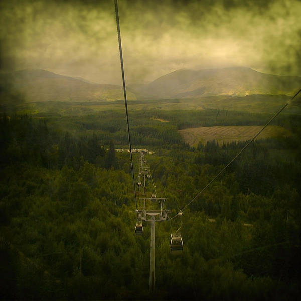 Abstract Art Print featuring the photograph Cable Cars by Svetlana Sewell