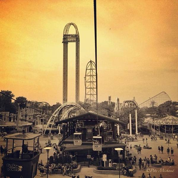 Cedarpoint Art Print featuring the photograph #cedarpoint #ohio #ohiogram #amazing by Pete Michaud
