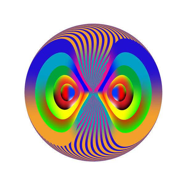 Multi-colored Art Print featuring the digital art Circle Study No. 28 by Alan Bennington