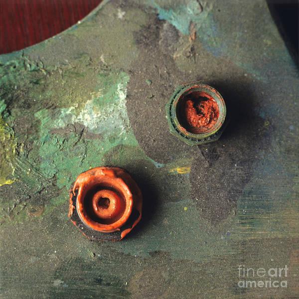 Views Art Print featuring the photograph Close Up Of Palette. by Bernard Jaubert