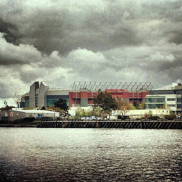 Manunited Art Print featuring the photograph #cloudy #weather In #manchester by Abdelrahman Alawwad