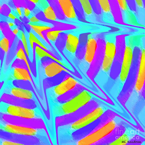 Abstract Art Print featuring the digital art Comet by ME Kozdron