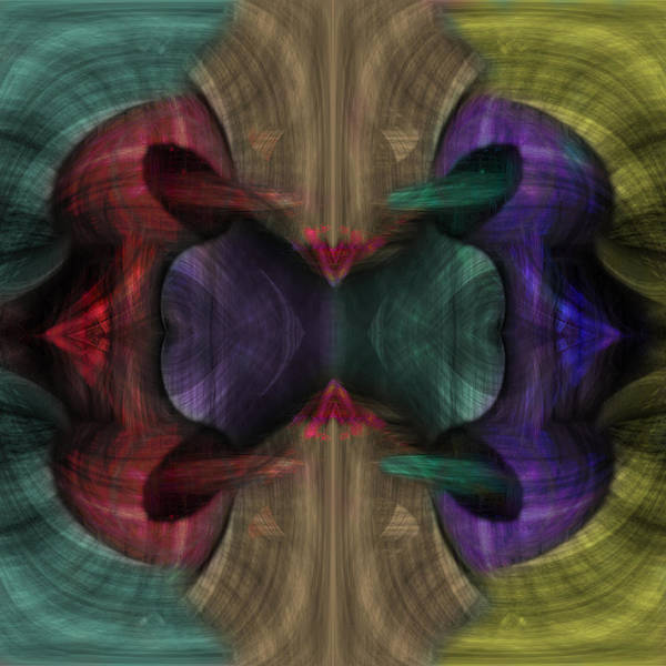 Conjoint Art Print featuring the painting Conjoint - Multicolor by Christopher Gaston